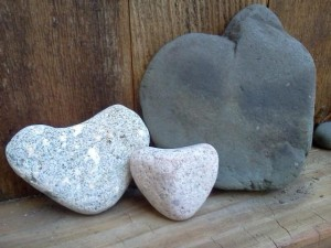 Large tumbled Hearts