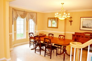 dining room prior to staging