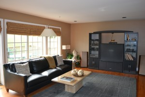 Family room before staging