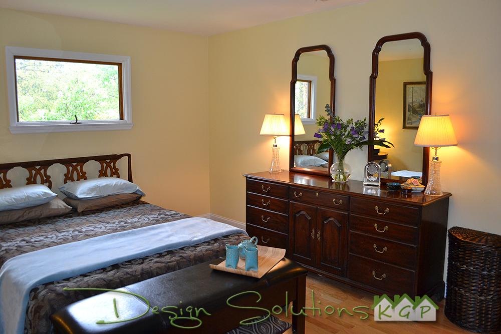 re-designed master bedroom
