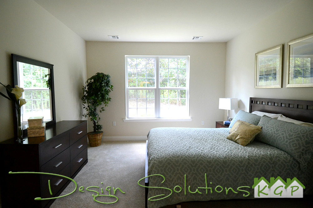 Calming blues in a Master Bedroom