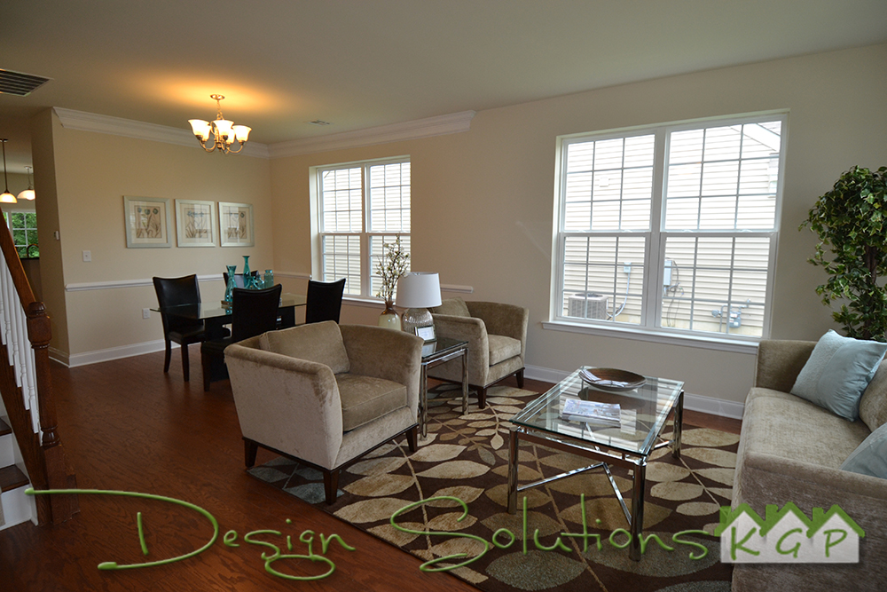 Open Living Room to Dining Room