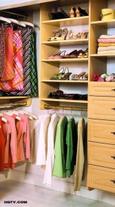 colored closet