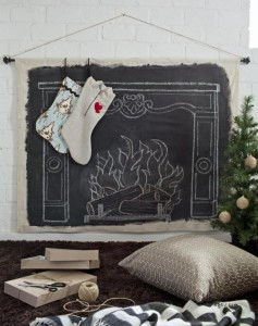 chalk board fireplace