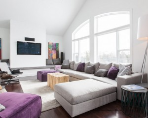Purple as a pop of color in decor