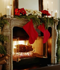 Red and Green Mantel