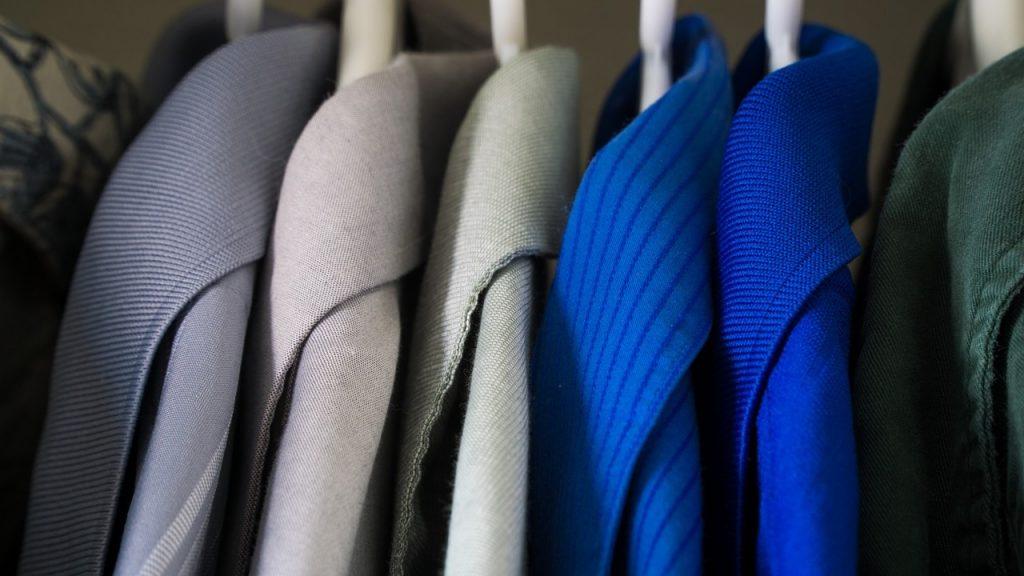 decluttered organized closet
