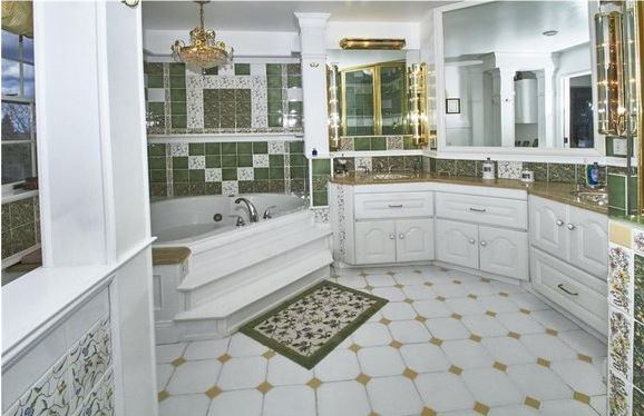 too much pattern and dated tile