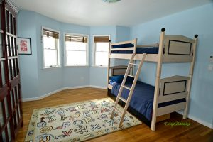 kids bedroom staged