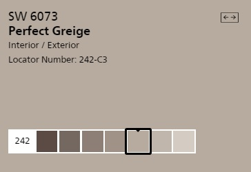 SW 6073 Perfect Greige