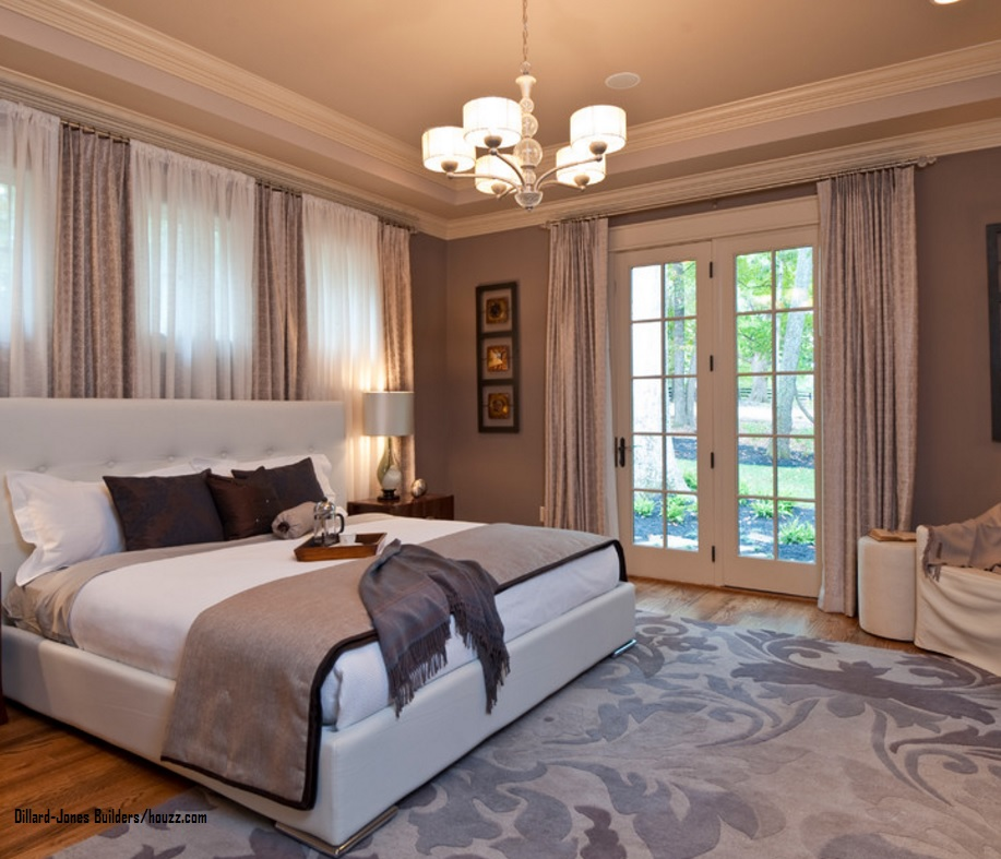 bedroom poised taupe