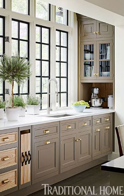 poised taupe kitchen