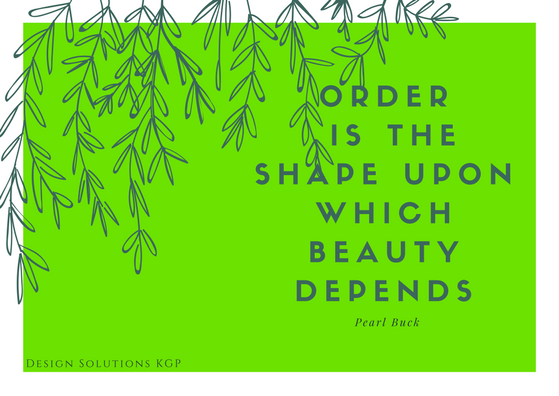 order is the shape upon beauty