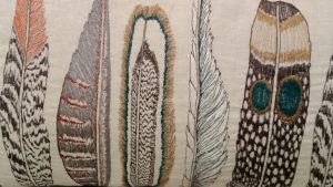 feather fabric nature related