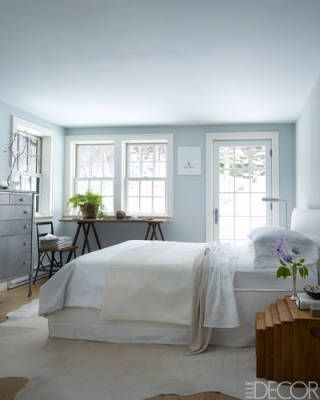 soft blue color in a bedroom