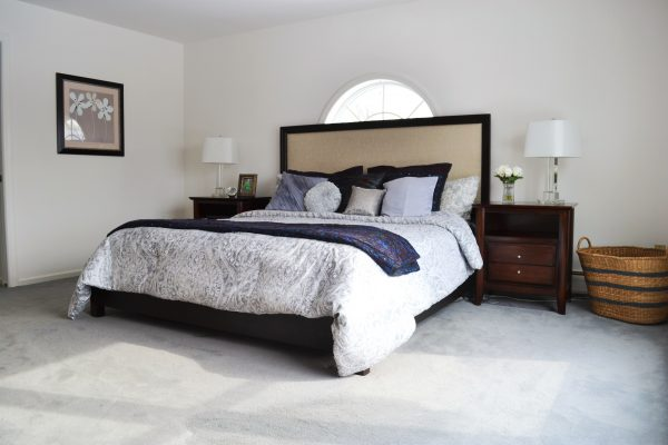 staged bedroom in Orange County NY
