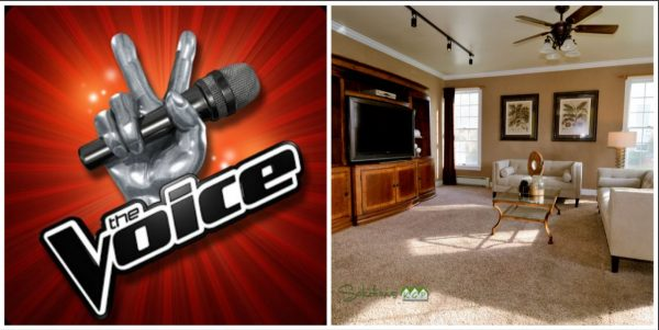 Analogy between The Voice and Staging a house