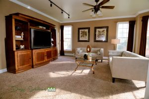 living room staged to attract buyers in Orange County NY