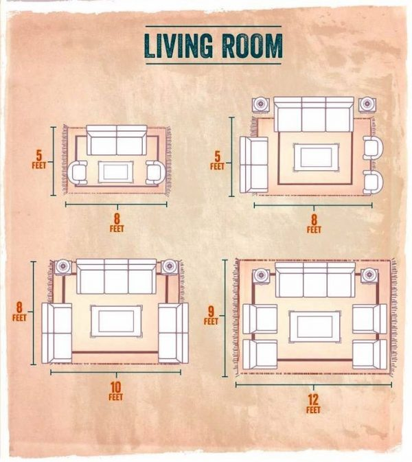 configurations of furniture placement on rugs