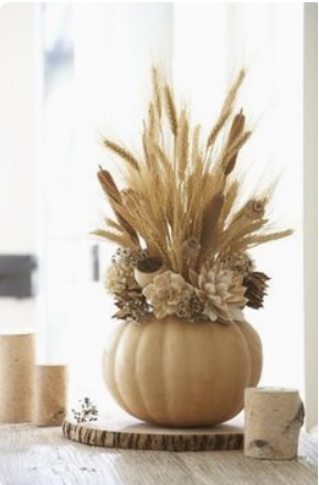 white pumpkin fall center piece