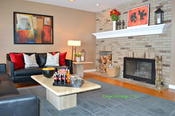 styled family room Warwick NY