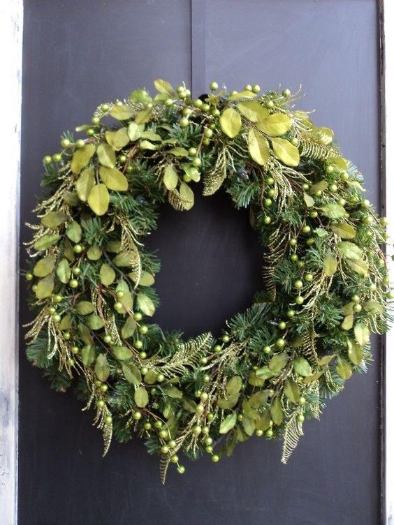 front door evergreen wreath