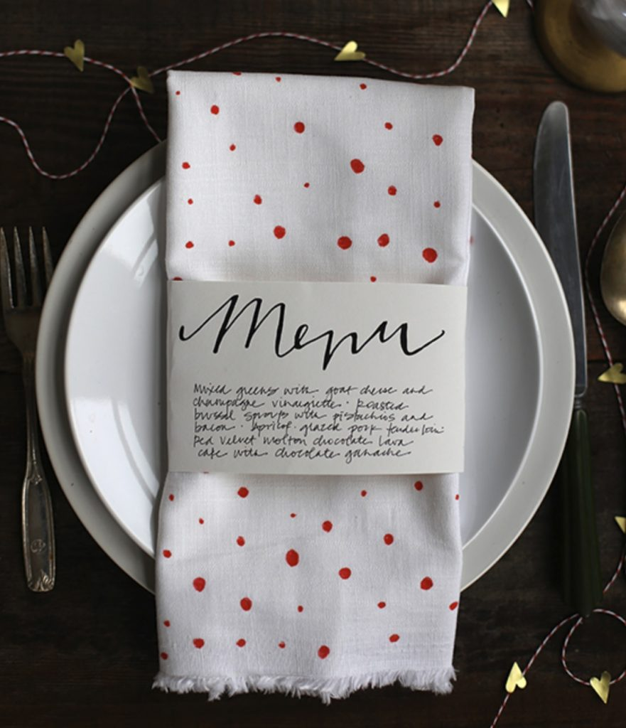 menu table setting