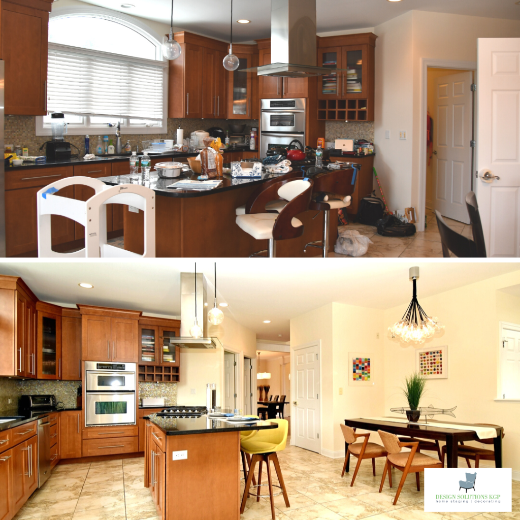 Before staging and after staging. The advantage of staging creates a bigger impressiong