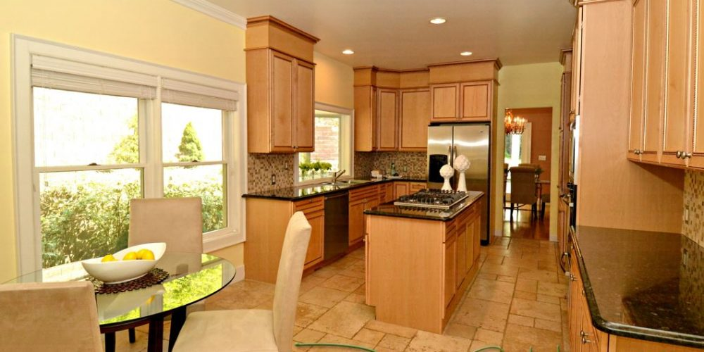 kitchen with staged style
