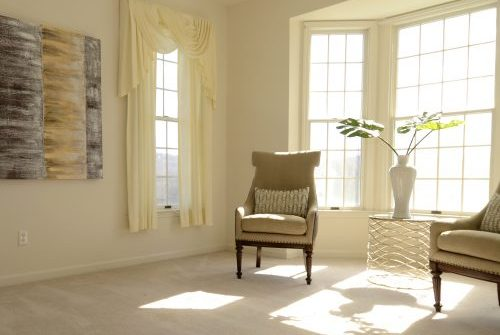 having open space in a room helps the eye rest