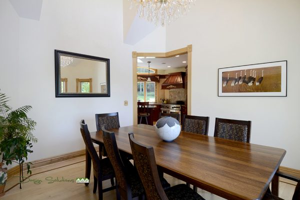 dining room staged Warwick NY