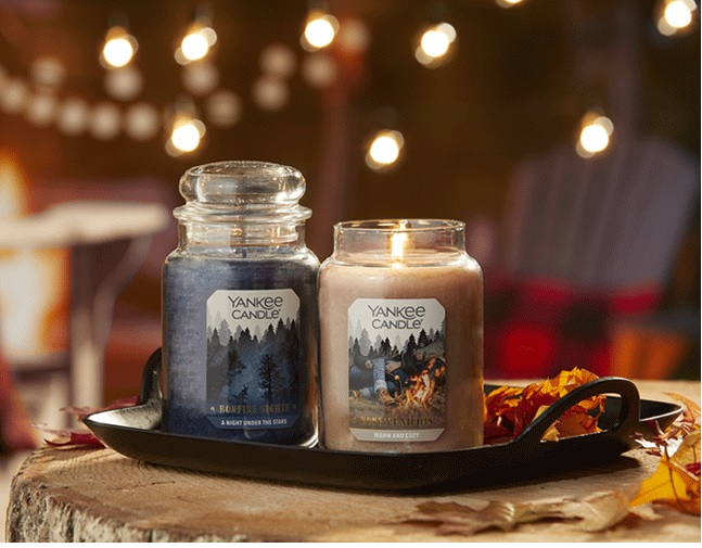 Warm sent of a candle will cozy up a room
