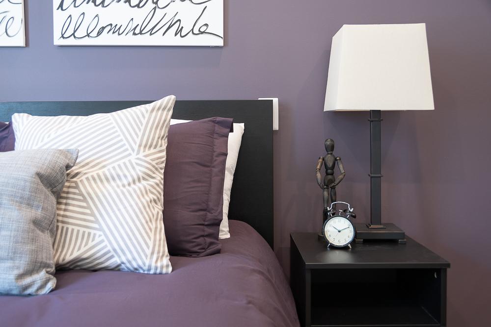 staged bedroom for marketing