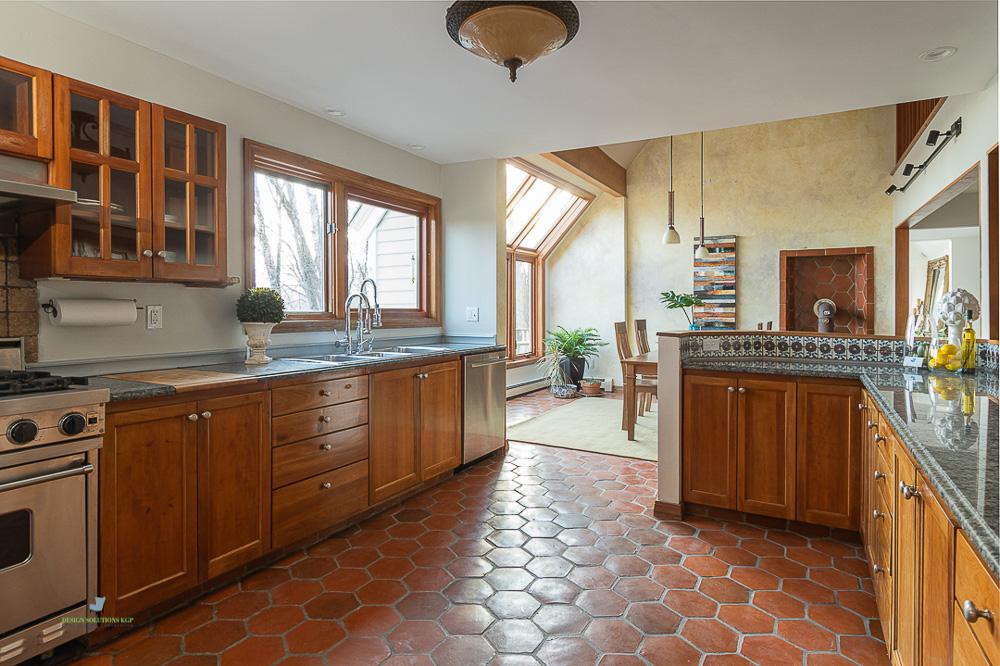 staged gourmet kitchen