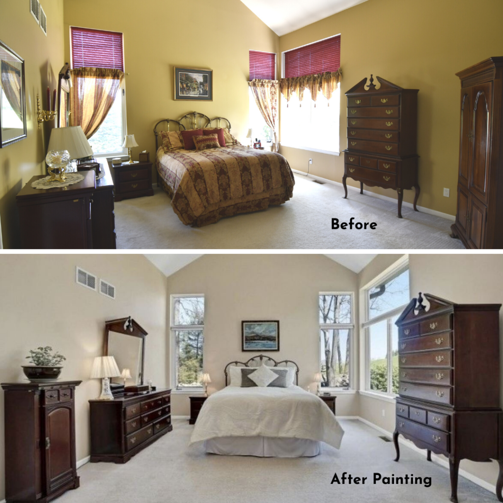 painting can improve the appeal of a room to sell quickly